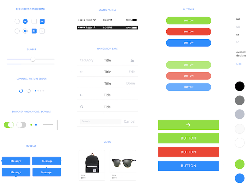 guacamole free mobile web ui kit psddd co