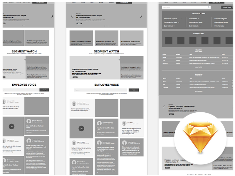 simple wireframe templates for sketch