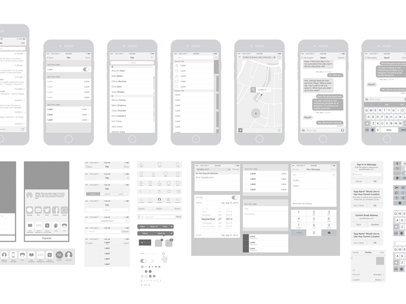 Free Iphone 6 Wireframing Kit And Templates Psdddco