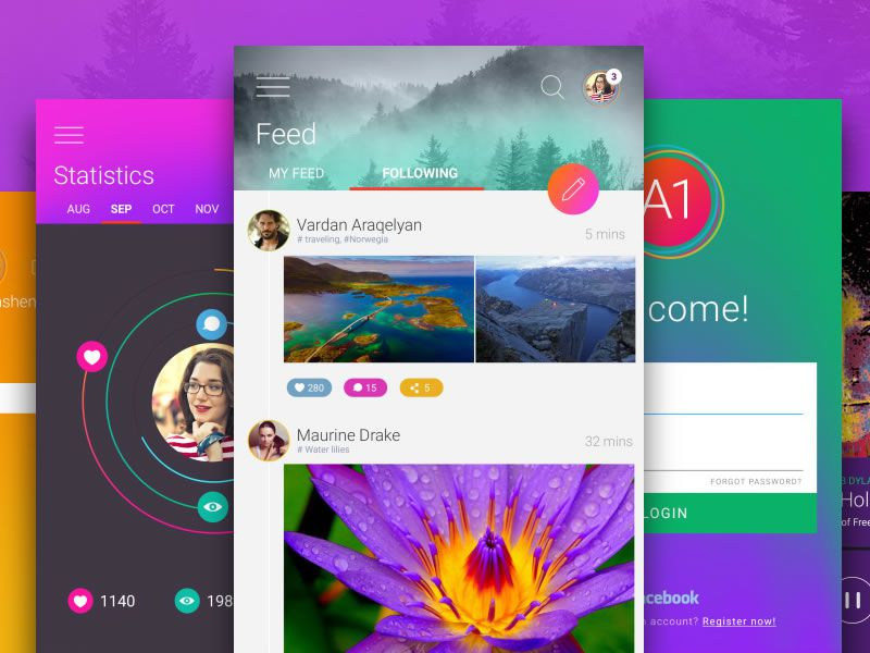 A1 UI Kit with 45 Screens & 250 Elements