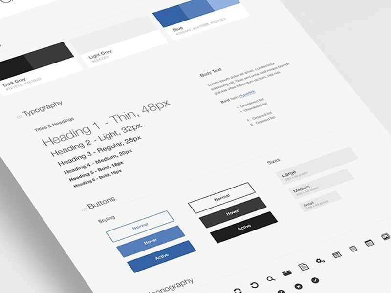 Free UI Style Guide Template For Photoshop  Free User Guide Template