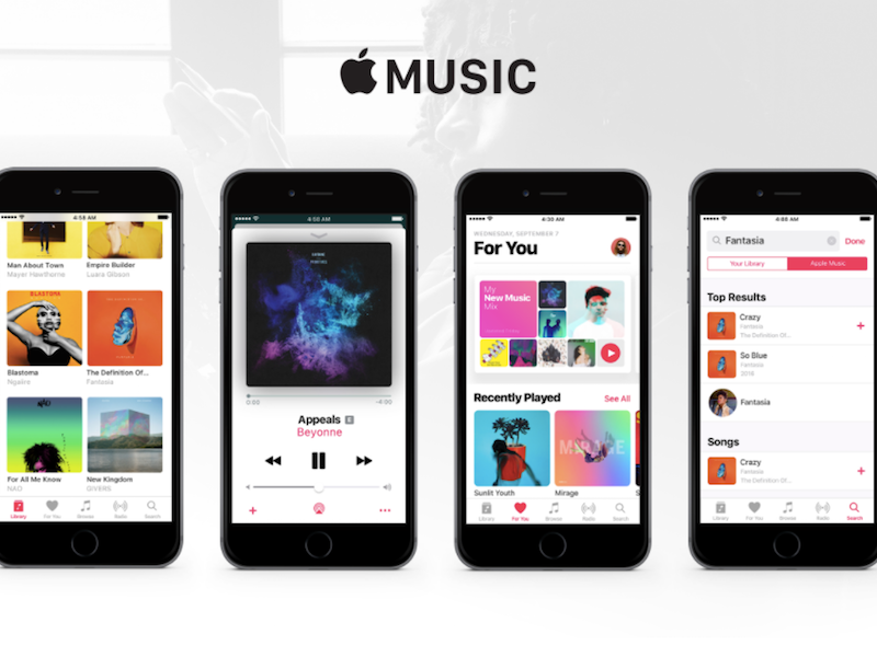 Apple Music Mobile UI Kit for Sketch