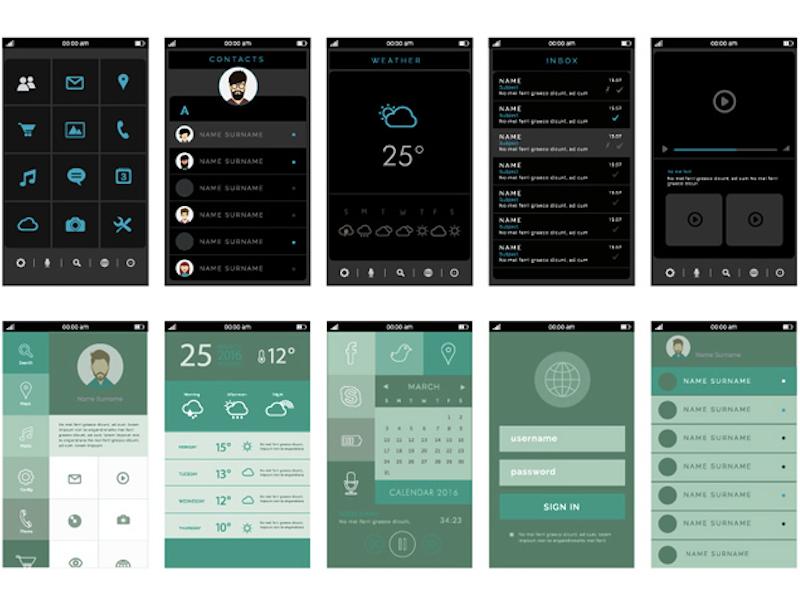 Mobile App UI Free Assets Kit