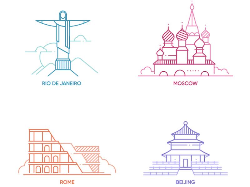 Free World Capitals & Cities Icon Set