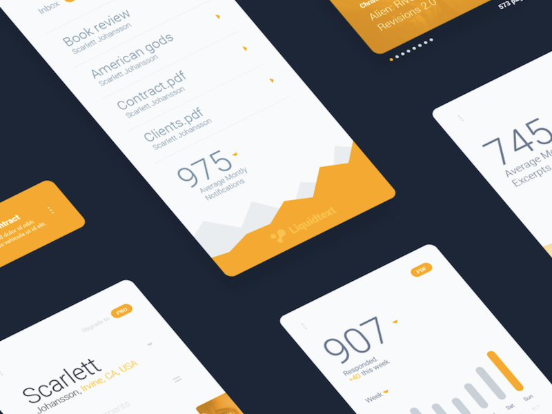 LiquidPro Mobile UI Kit for Sketch