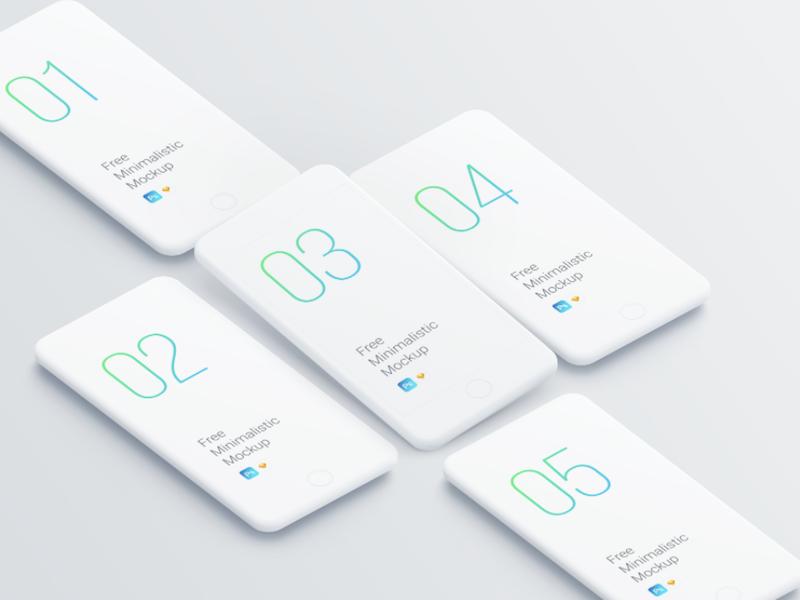 minimalistic free phone mockup templates psddd co