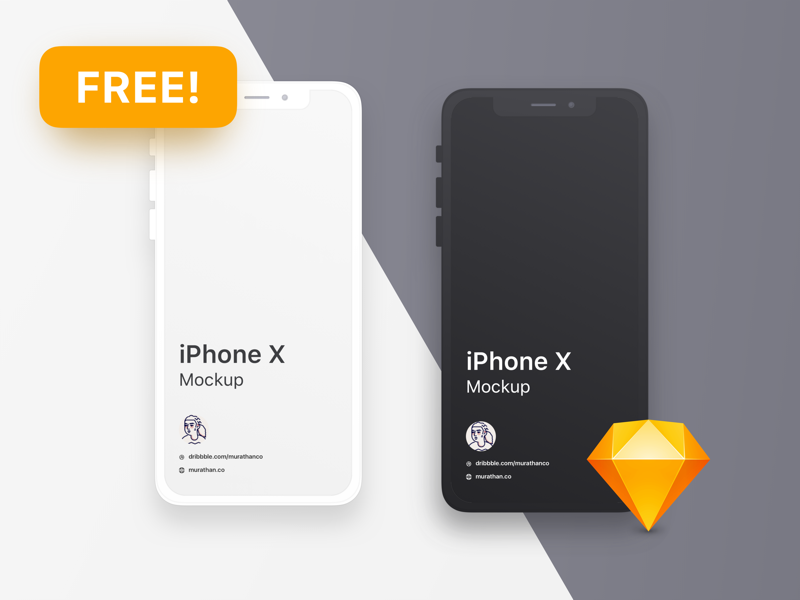 Free mockup templates for ui designers free iphone x clean mockup templates for sketch pronofoot35fo Gallery