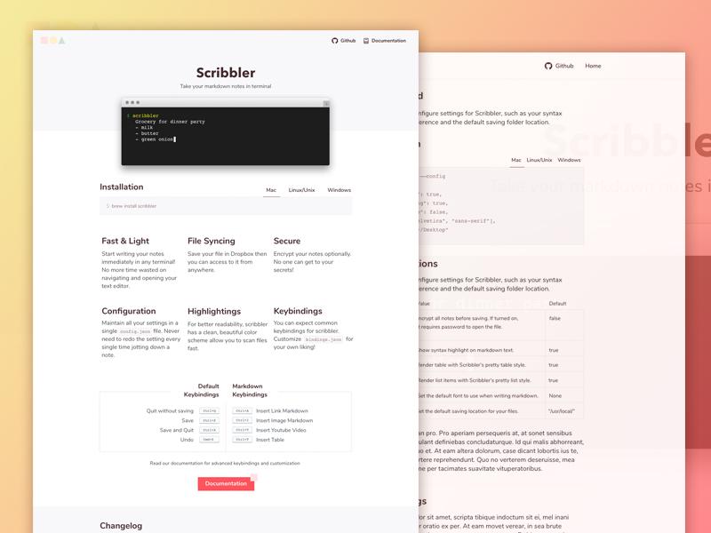 Scribbler Free Website Template Html Sketch Psddd