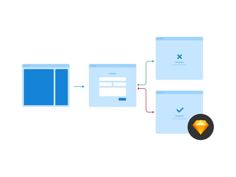 40 Flowchart Card Templates For Sketch Psddd