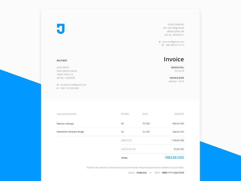 Free Sketch Invoice Template For Designers Psddd