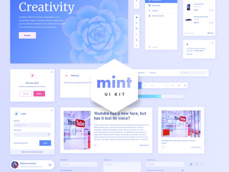 Free Web UI Kits For UI Designers