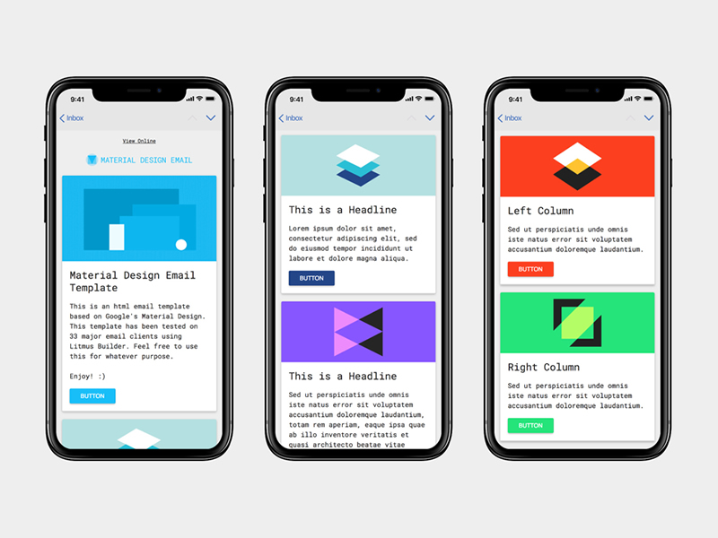 Free HTML Material Design Email Template - PSDDD.co