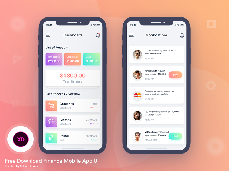 Free Mobile App UI Kits for UI Designers